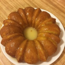 Mom's Apricot Nectar Cake Recipe - A moist and easy lemon cake includes apricot nectar for a delightfully fruity flavor boost.