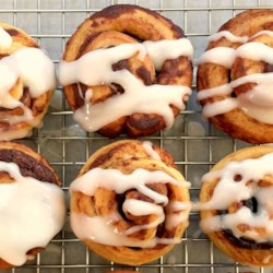 Bacon-Stuffed Cinnamon Roll Bites Recipe - Cinnamon roll dough and bacon come together in these bacon-stuffed cinnamon roll bites that will easily be the hit of weekend breakfast and brunch.