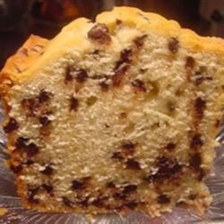 Jan's Chocolate Chip Pound Cake Recipe - This chocolate chip pound cake is moist and delicious and simple to prepare for a treat the whole family will love.