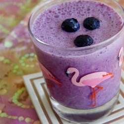 Blueberry and Spice Smoothie Recipe - Blueberries, cinnamon, and yogurt are blended together creating this blueberry and spice smoothie perfect for breakfast or a snack.