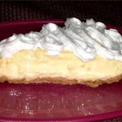 Quick and Easy Lemon Pie Recipe - Cool and easy--even your kids can help you make it! They'll love the pudding and cream cheese filling and the graham cracker crust.