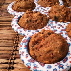 Morning Glory Muffins I Recipe and Video - This muffin has a little bit of everything - carrots, raisins, apple butter, wheat germ, nuts. A perfect start for your day!