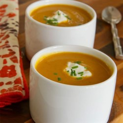 Curried Pumpkin Soup with Chives