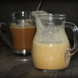 Paleo and Vegan Pumpkin Spice Creamer Recipe - Homemade pumpkin spice creamer made with coconut milk, pumpkin puree, and maple syrup is paleo-friendly and vegan too!
