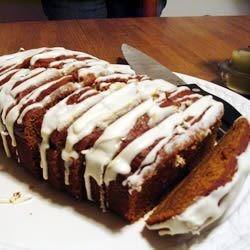 Pumpkin Gingerbread with Cream Cheese Frosting
