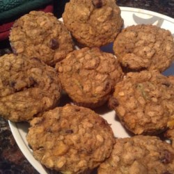 Healthy Pumpkin Zucchini Muffins Recipe - Zucchini and pumpkin give these muffins added color and fiber and are perfect for on-the-go breakfast or snacks.