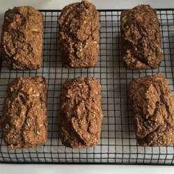 Banana Bran Zucchini Bread Recipe - Whole-grain zucchini bread, packed with fruit and fiber, is a low-fat treat.