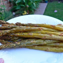 Roasted Asparagus with Shallots Recipe - Asparagus and shallots are roasted in the oven with a little olive oil and red wine vinegar. This recipe is as flavorful and delicious as it is easy to prepare! Comes out perfect every time! You will never want soggy steamed asparagus ever again!