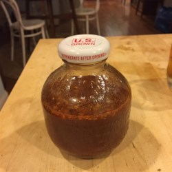 Scott's Savory BBQ Sauce Recipe - This is a very simple Carolina style vinegar based BBQ sauce.  A friend of the family gave us this recipe several years ago and after a few tweaks and additions, this is the best BBQ sauce that I've ever had.  You combine all of the ingredients and then enjoy.  This is easily scaled up or down.