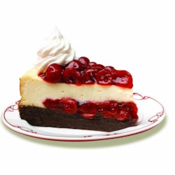 Cherry Chocolate Brownie Cheesecake Recipe - Cherry fruit filling on a brownie base layer is topped with a rich cream cheese spread for a delicious take on cheesecake.