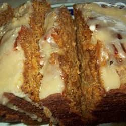 Pumpkin Bread with Caramel Drizzle