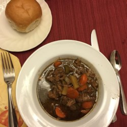 Beef Stew II Recipe - This beef stew made with carrots and celery is seasoned with paprika, cloves, black pepper and Worcestershire sauce.