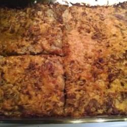 Bulba Kosha Recipe - Lithuanian recipe for potato pie made with potato, onion, butter and salt pork.