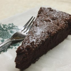 "Chef John's Chocolate Decadence Recipe - Chef John's recipe for chocolate decadence, a ""flourless"" chocolate cake, produces a rich and delicious cake your valentine will love."