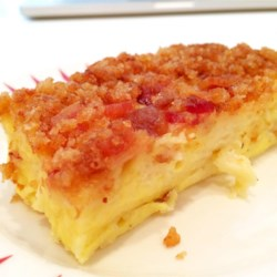 Swiss Cheese Scramble Recipe - A hearty make ahead breakfast casserole that's as filling as it is delicious.