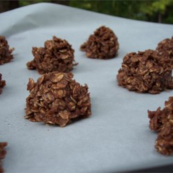 No Bake Cookies II Recipe - This easy, no-bake cookie recipe requires just sugar, butter, milk, cocoa, oatmeal, and vanilla for a quick treat.