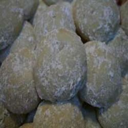 Italian Butterball Cookies Recipe - These buttery cookies are rolled in confectioners' sugar.