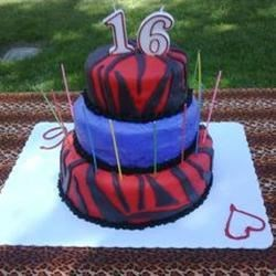 purple & red zebra cake