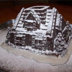 holiday house cake