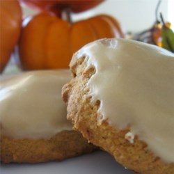 Pumpkin Cookies V Recipe - This quick and easy recipe for pumpkin cookies produces soft, cake-like cookies with a caramel icing.