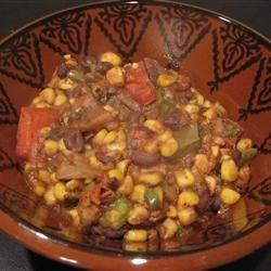 Black Bean Chili with extra corn