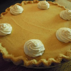 "Stabilized Whipped Cream Icing Recipe - ""This cream holds up longer on pies because it doesn't separate. Gelatin stiffens whipped cream and makes the texture seem fuller and slightly spongy. May be used to top a pie or frost a cake."""