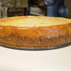 Basic Cheesecake Recipe - A basic thick cheesecake. Serve with your favorite fruit topping.