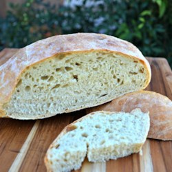 Effortless Rustic Bread Recipe - Homemade rustic bread for breakfast, lunch, or dinner is easy to make using only 5 ingredients that you probably already have on hand.