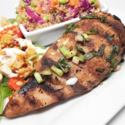 Fast Grilled Chicken Breast Marinade Recipe - Chicken breast marinade, made with soy sauce, honey, and plum wine, is a sweet and savory way to flavor grilled chicken.