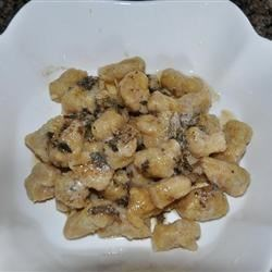 Acorn Squash Gnocchi with Parmesan Sage Beurre Blanc Recipe - This recipe is and outstanding way to use acorn squash both for the homemade gnocchi and the delicious Parmesan-sage sauce.