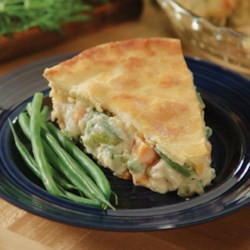 Love That Leftover Turkey Pot Pie Recipe - Use your leftover holiday turkey and sweet potatoes to make a delicious pot pie with peas, carrots, and green beans.