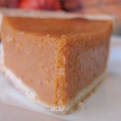 Pumpkin Pie V Recipe - It tastes like you spent hours stirring and baking, but all the yummy ingredients -pumpkin, sugar, eggs, milk and spices -are simply blended in a bowl, and then poured into a pastry-lined pie shell. It bakes up golden and delicious.