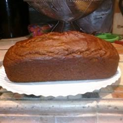 Baked Pumpkin Bread Recipe - This is a lower calorie quick bread that does not skimp on flavor.  Buttermilk guarantees a moist crumb, too. Great for afternoon snack.