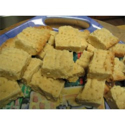 Kay's Shortbread Recipe - This simple shortbread cookie is baked in a nine inch round cake pan, and cut into wedges.