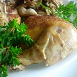 Baked Slow Cooker Chicken Recipe - Bake a whole chicken to tender, juicy perfection in your slow cooker. A pinch of paprika boosts flavor and adds a golden brown finish.