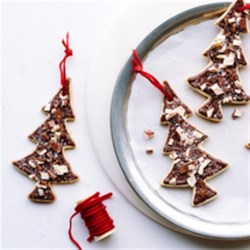 Christmas Tree Ghirardelli Peppermint Bark Cookies Recipe - A delicious and festive holiday cookie.