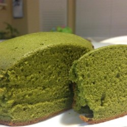 Green Tea Cake Recipe - Green tea powder, also known as matcha, is added to cake batter creating a lovely green tea cake that is naturally bright green!