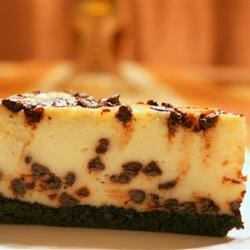 Chocolate Chip Cheesecake I Recipe - This is the best cheesecake I've ever had.  People have offered to pay me to make these for them during the holidays!