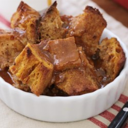 Pumpkin Pie Bread Pudding Recipe - Pumpkin pie and bread pudding become a dynamic duo in this pumpkin bread pudding recipe that is perfect for Thanksgiving or fall dinners.