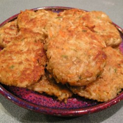 Authentic Potato Pancakes Recipe - Potato pancakes with garlic, carrot, onion, dill, and parsley pan fried until golden brown.