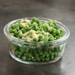 Lazy Green Peas Recipe - Frozen peas are microwaved and seasoned in this quick and easy vegetarian side dish, great for a weeknight.