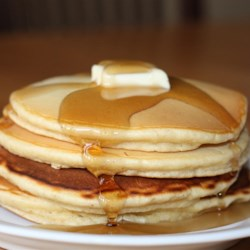 Mom's Spiced Eggnog Pancakes Recipe - Eggnog, cinnamon, and nutmeg are added to these quick and easy pancakes fit for a fun holiday breakfast.