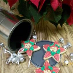 Christmas Poinsettia Sugar Cookies