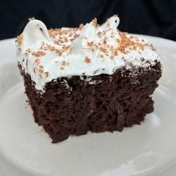 Salad Dressing Chocolate Cake Recipe - A moist and chocolatey cake made with creamy salad dressing!