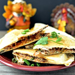 Thanksgiving Quesadilla Recipe - Turkey and cranberry quesadillas are the perfect way to use your Thanksgiving leftovers.