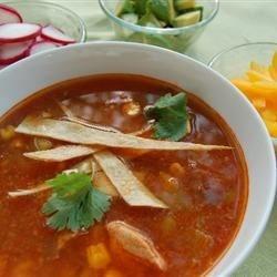 Healthier Slow-Cooker Chicken Tortilla Soup