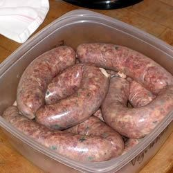 Andouille Sausage Recipe - Home made spicy Andouille sausages. Adjust the seasonings to suit your preferences.