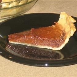 Chocolate Chess Pie I Recipe - This is a very easy pie to make, and it tastes wonderful!