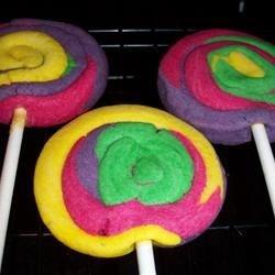 Rainbow Lollipop Cookies (as per my daughter)