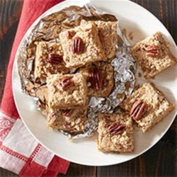 Creamy Pumpkin Pie Bars Recipe - These dreamy desserts are a perfect seasonal treat from Joy Wilson of Joy The Baker.